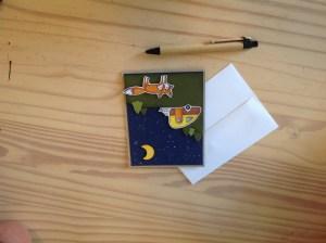 Kailyard- Camping Fox Greeting Card With Envelope