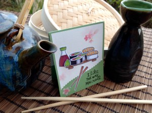Kailyard Creations- Sushi Roll Greeting Card alt view
