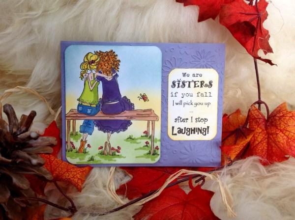 Kailyard Creations - Sisters Greeting Card