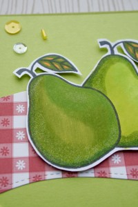 Kailyard Creations - Perfect Pear Greeting Card-close