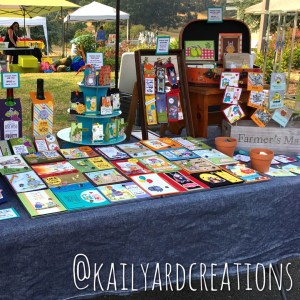 Outdoor Market Table 2017 -kailyardcreations