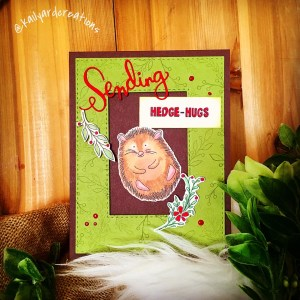 Hedge-Hugs Greeting Card by Kailyard Creations