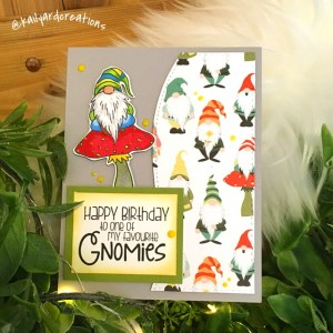 Birthday-Gnomies Greeting Card by Kailyard Creations