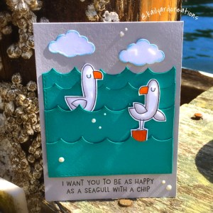 Seagull-Chip Greeting Card by Kailyard Creations