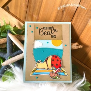 Beach-Face Greeting Card by Kailyard Creations