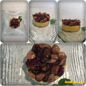 ready polenta with mushrooms