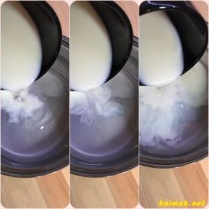 мляко и вода за еклери