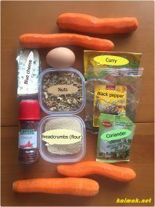 ingredients spicy carrot bites