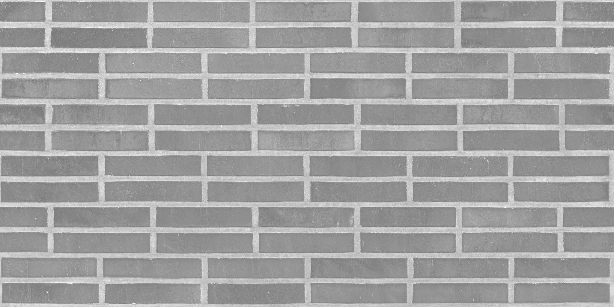 3D Scanned Seamless Brick Wall Dark Roughness Map