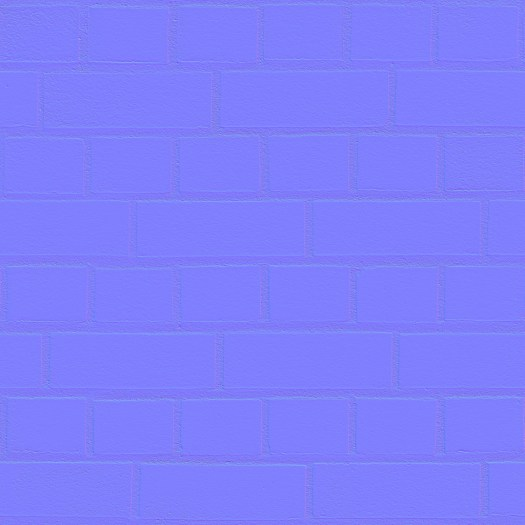 3D Scanned Seamless Brick Wall Red Normal Map