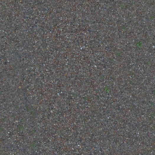 3D Scanned Seamless Gravel Ground Albedo Map