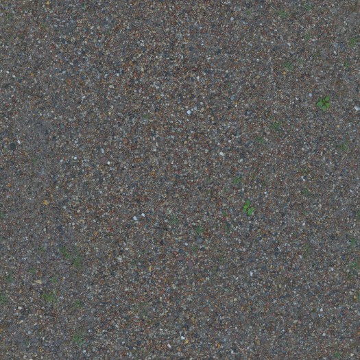 3D Scanned Seamless Gravel Ground Albedo Map