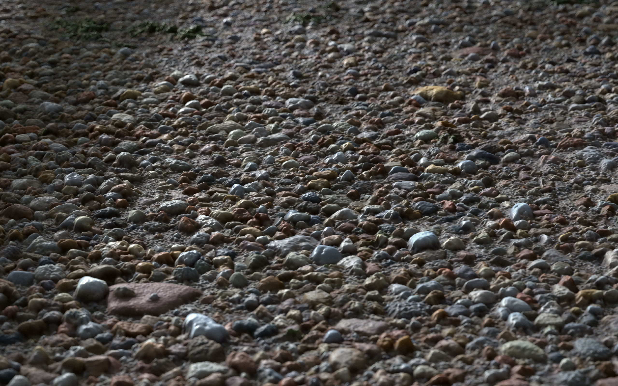 3D Scanned Seamless Gravel Ground Material