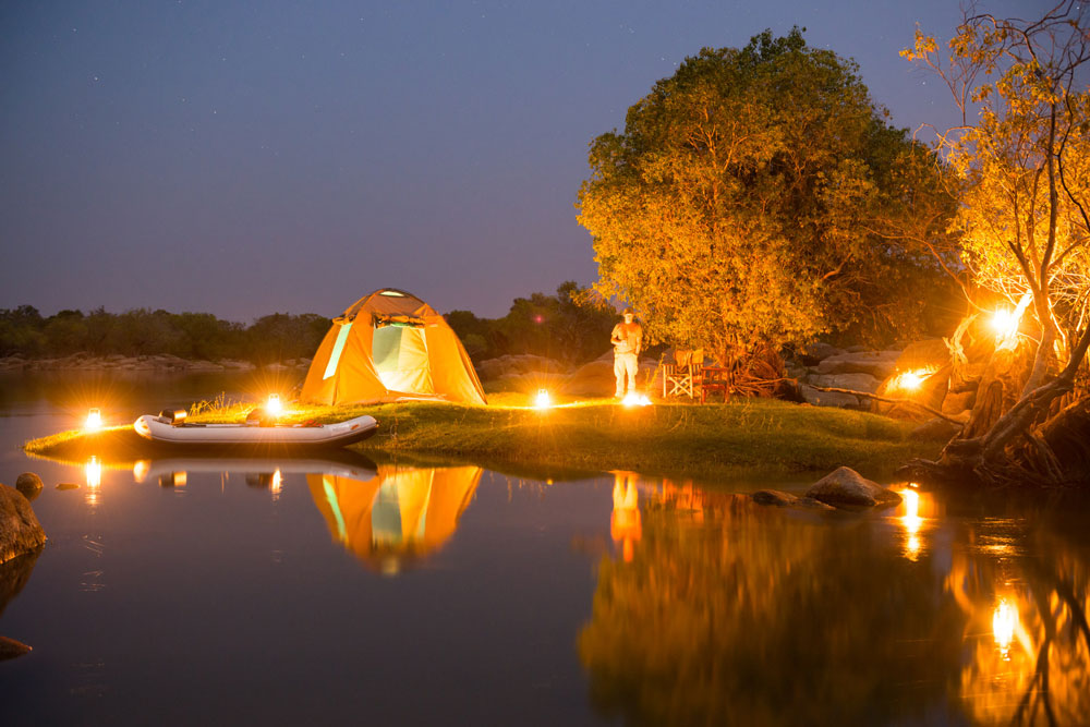 Camping at Kaingu in Zambia
