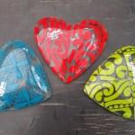 ART PT - GLASS 'HEARTS'