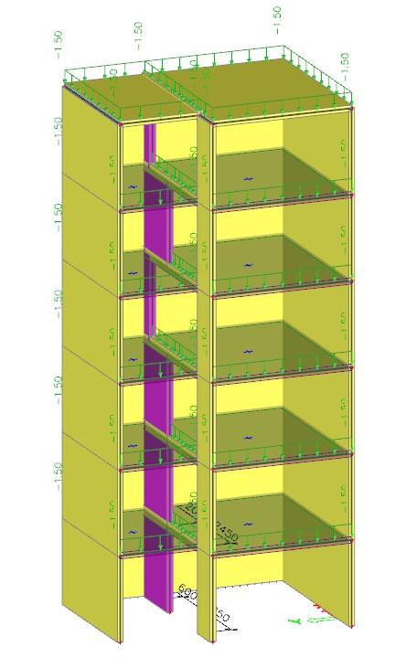 Modèle de calcul : immeuble complet