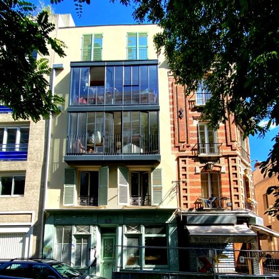 Surélévation et restructuration lourde d'une maison à Paris, Gambetta