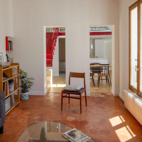 Réaménagement de combles à Paris, rue de Sedaine