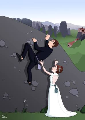 Aline dessine Semaine 2 - Climb Wedding
