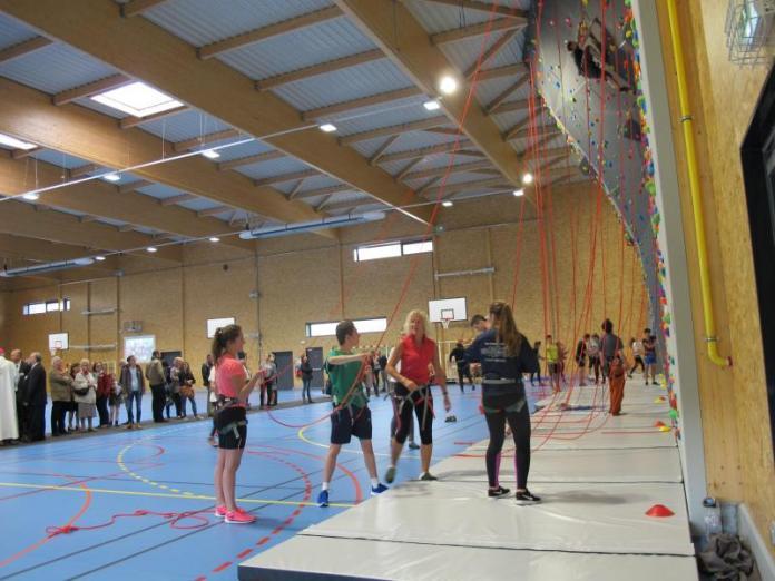 Mur escalade Gymnase Douai