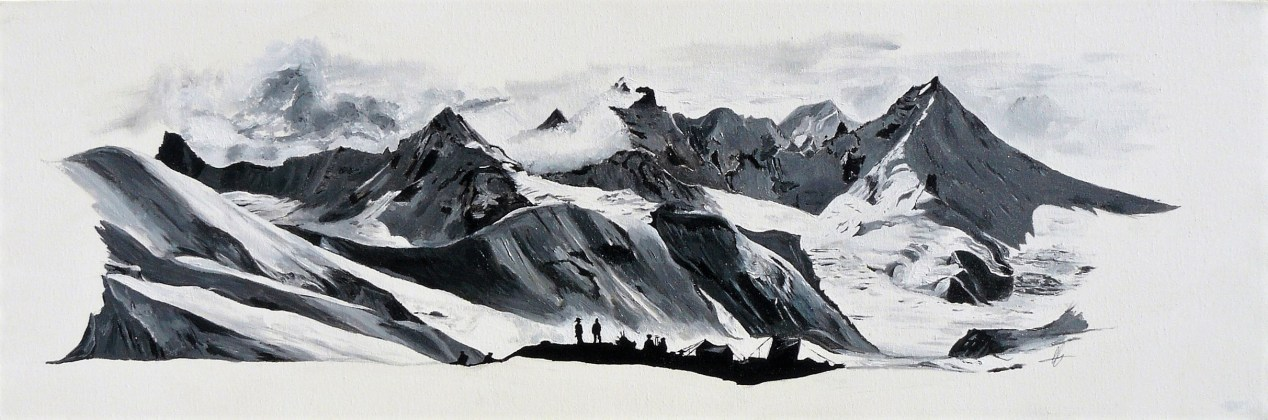 Camille peint Semaine 5 - Chaînes Himalayennes