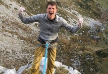Le grimpeur allemand Roland Hemetzberger,