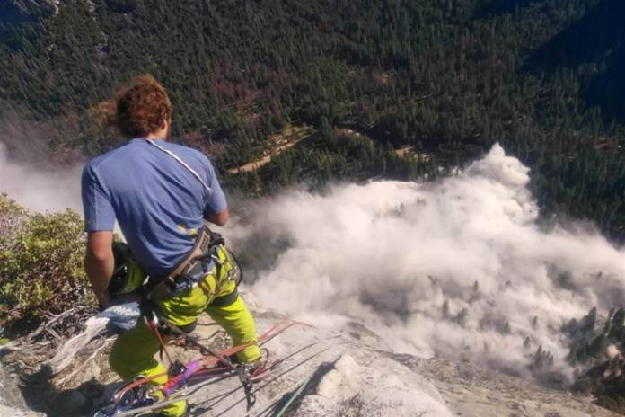 Accidents suite chute de rochers El Capitan - photo Peter_Zabrok