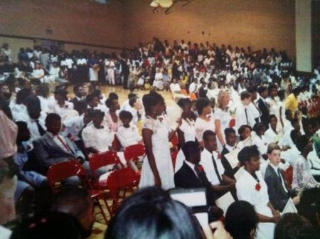 8th Grade Graduation from Brittany Woods Middle School. That's me, lower right.