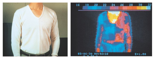 Figure 2 (left) – Teviron (Left), Wool (Right) Figure 2 (right) – Cool Colors (Left), Warm Colors (Right)