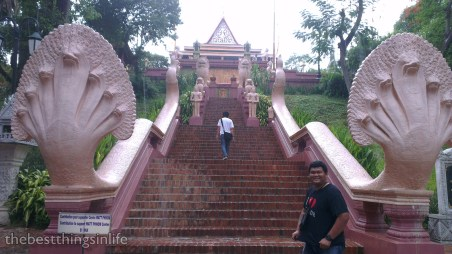 Main stairways leading to the pagoda.
