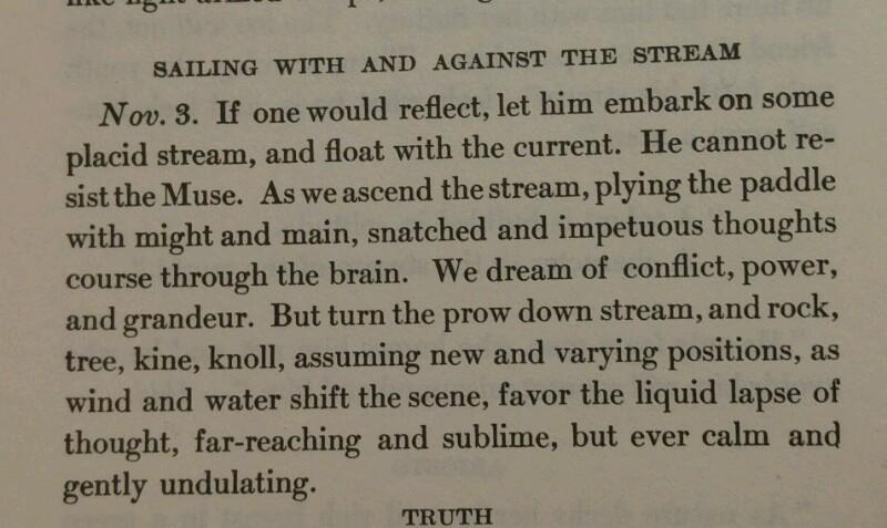 Tagebuch von H.D. Thoreau vom 3.11.1837