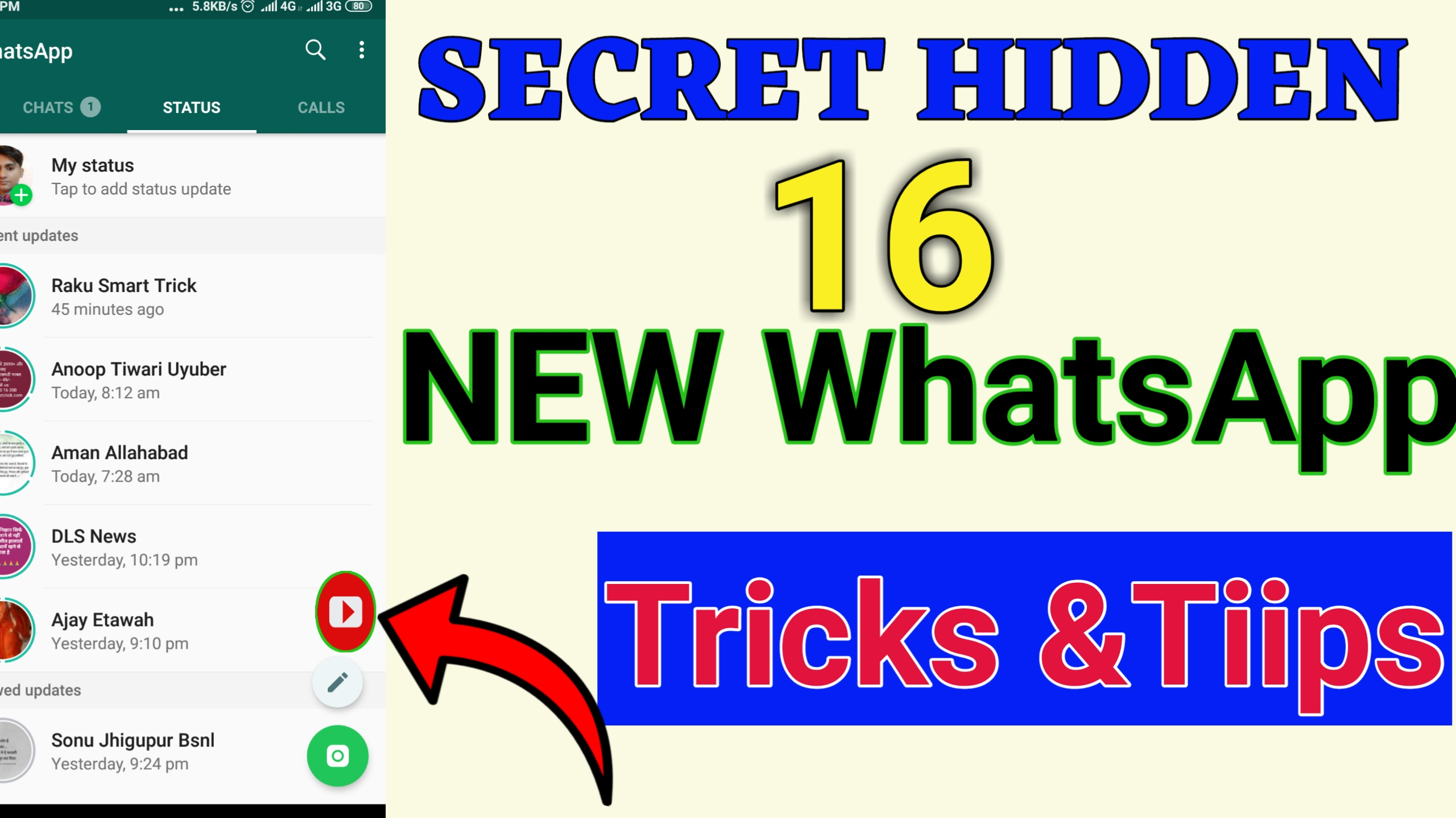 16 NEW Top Whatsapp Trick & tips । youtube video direct whatsapp status