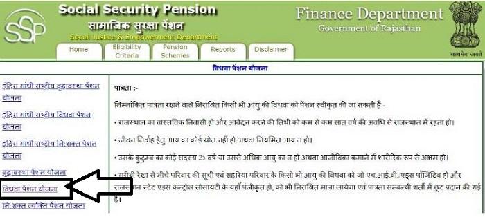 Rajasthan Vidhwa Pension Yojana 2020