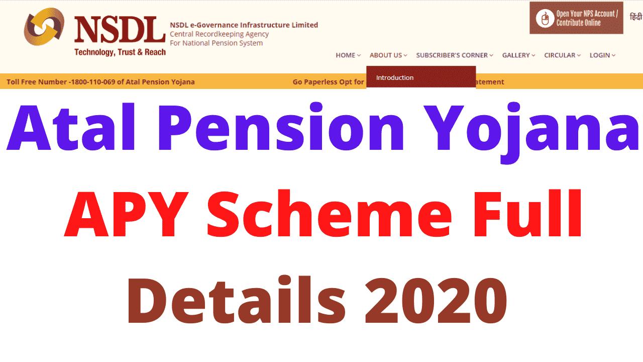 Atal Pension Yojana APY Scheme Full Details 2020