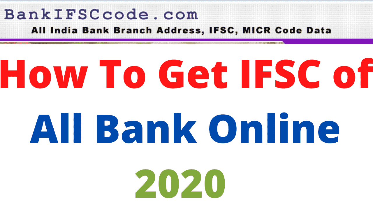 IFSC of All Bank