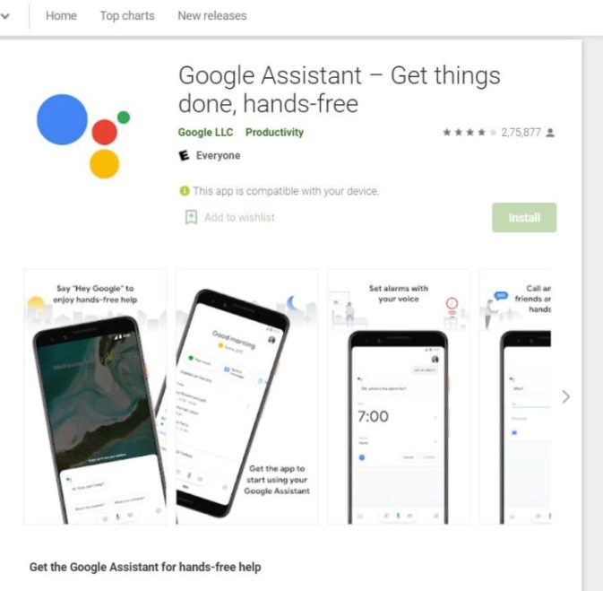 Where can we download google assistant