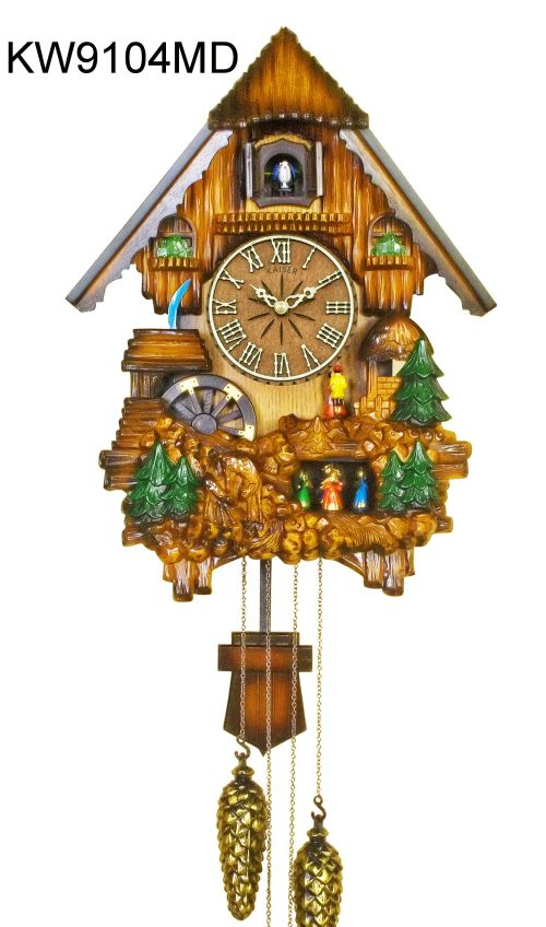 kaiser clock - A18KCKW9104 Musical Cuckoo Clock with waterwheel and dancers