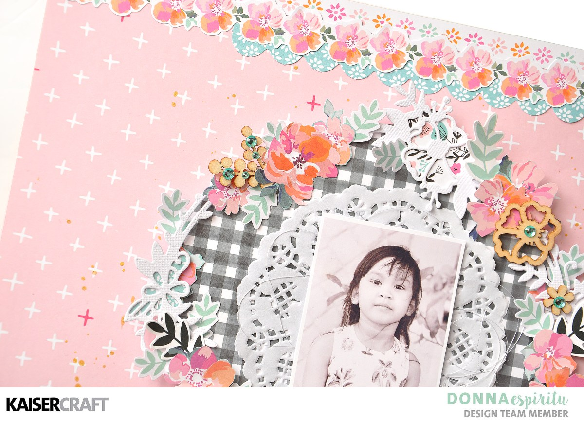 Bright and colorful scrapbook layout tutorial