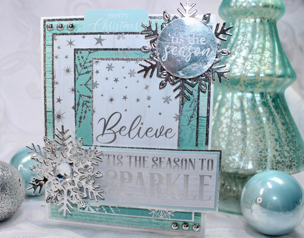"Kaisercraft /'LET IT SNOW/' 6.5/"" Paper Pad Christmas//Snowflakes KAISER PP1074"