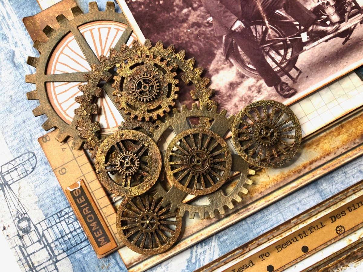 Technique Tuesday – Mixed Media Rusty Cogs