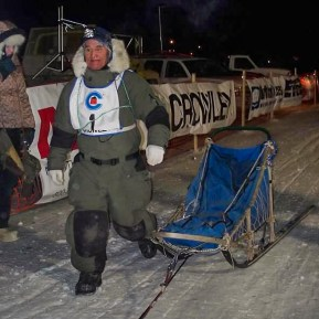 Oldest Musher in the Akiak Dash