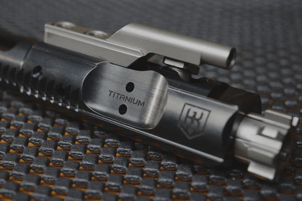 Ultra Light Titanium AR-15 Bolt Carrier Group (BCG) Indestructible Black Nitrate KaiserUS TI-7