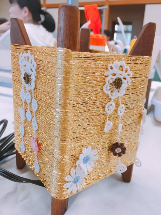 糸巻きランプ作り体験