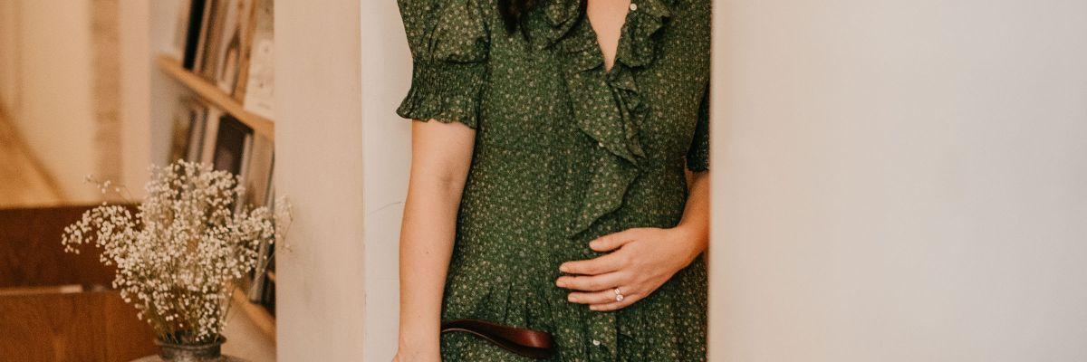 ebb2285951bbb Style Diary: A Sweet Bump-Friendly Dress | Kait Bos