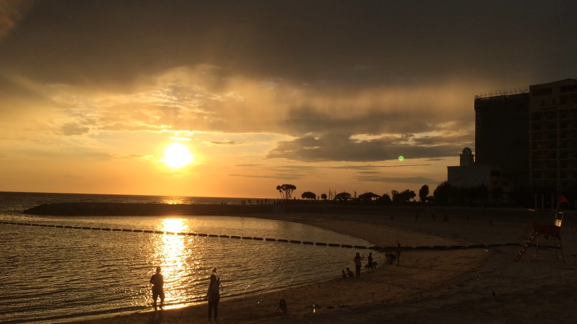 Image result for sunset beach at american village okinawa