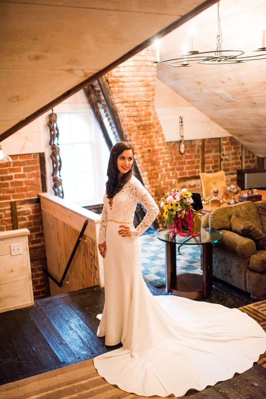 Romantic Jedidiah Hawkins Inn Wedding Kaitlyn Ferris New York Bridal Portraits