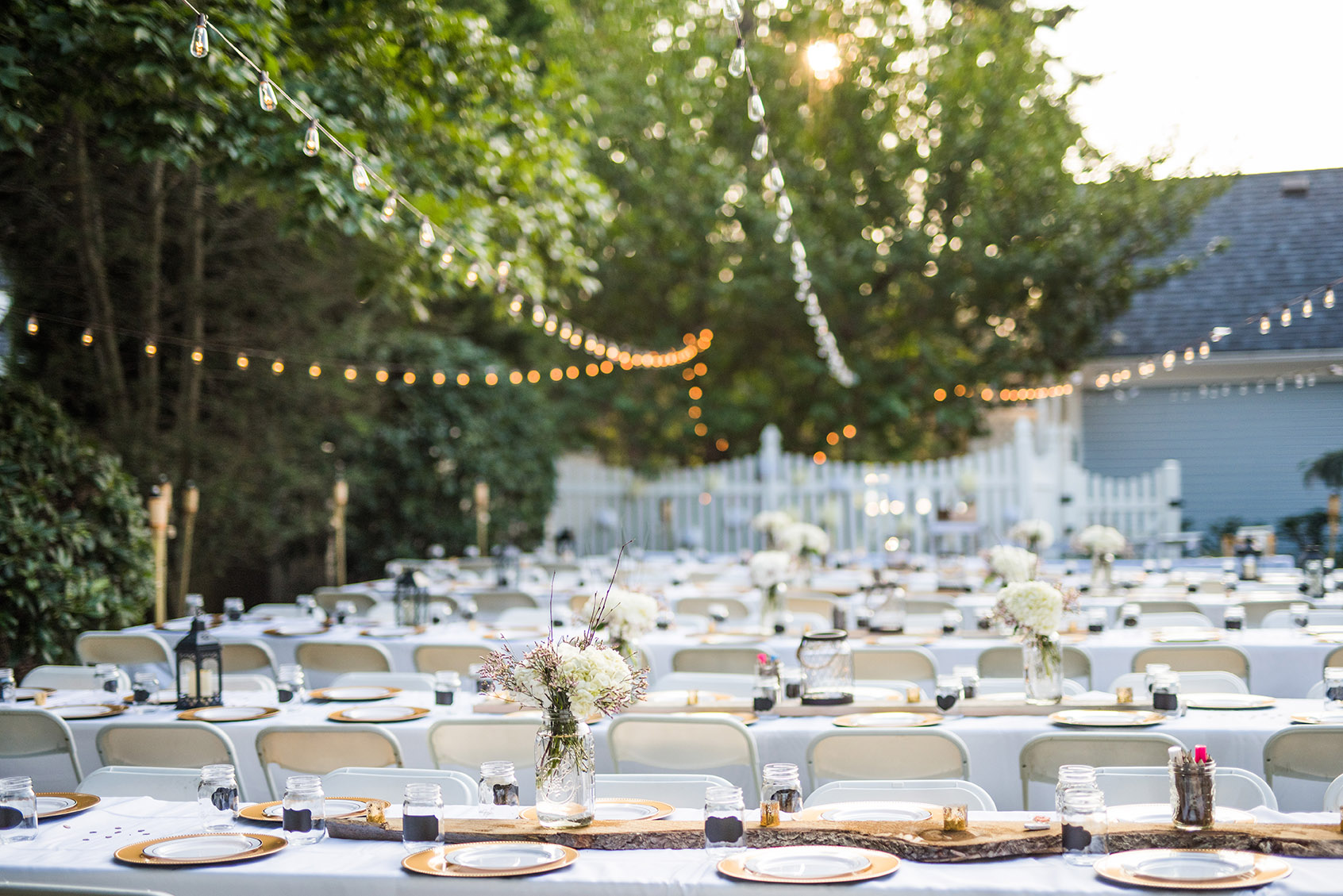 a super sweet backyard engagement party in lake grove