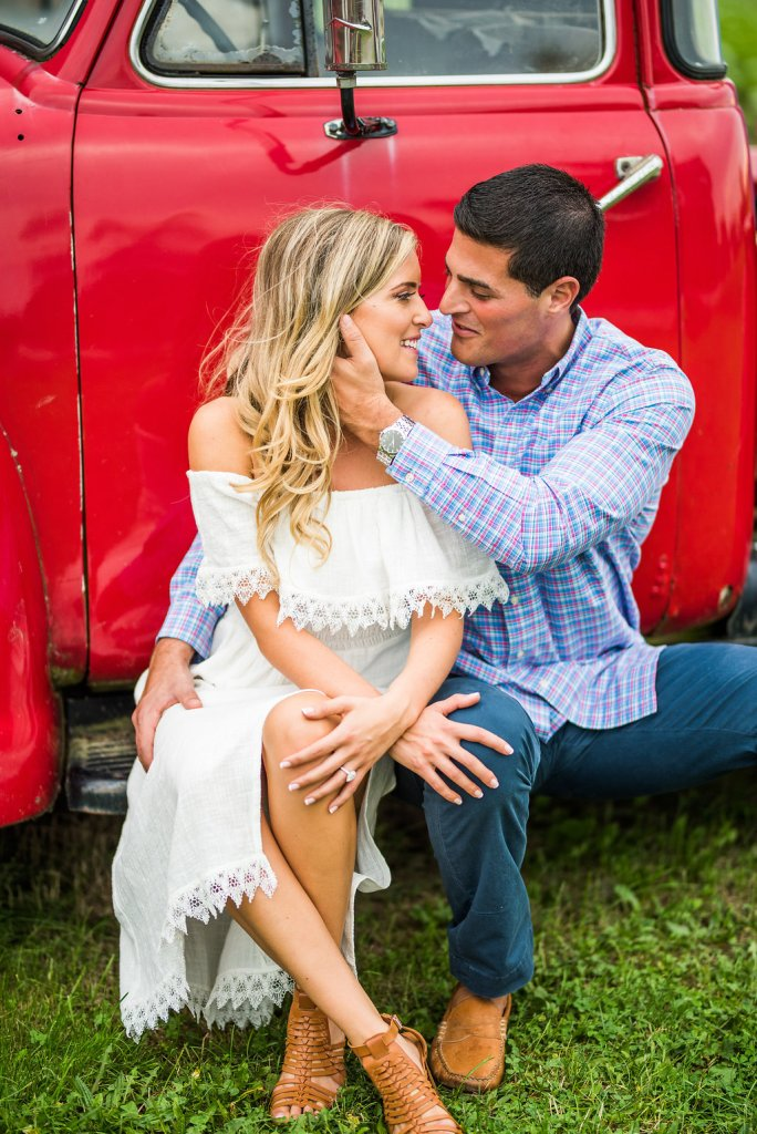 red truck Kaitlyn ferris photography romantic engagement