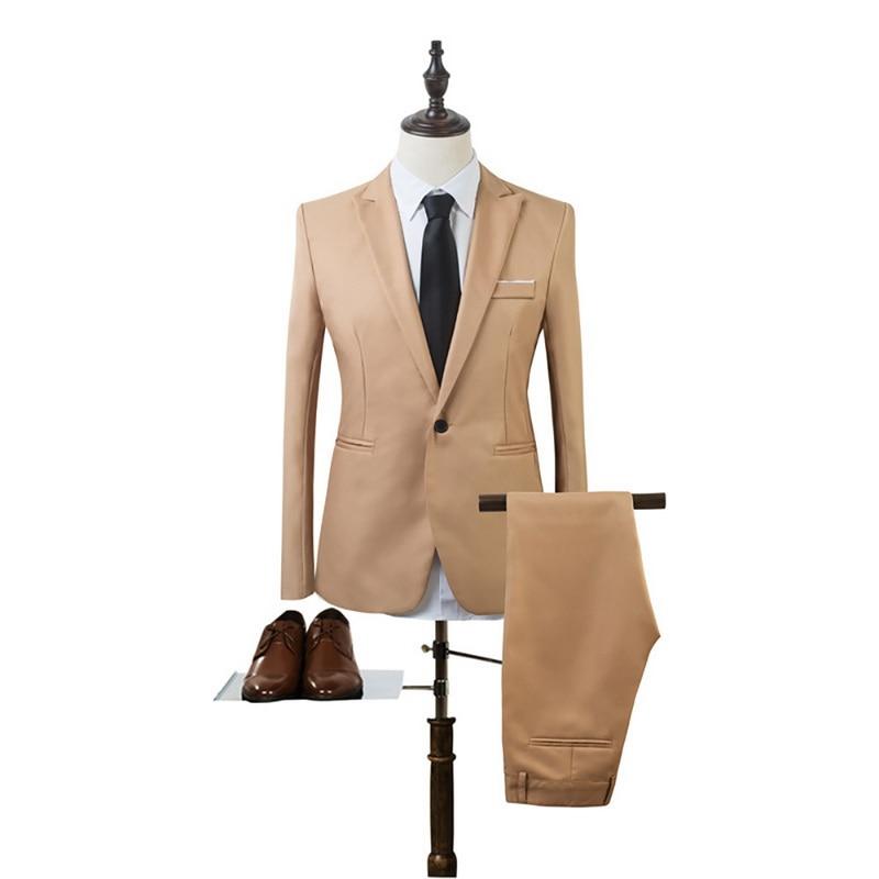 New 2 Pieces Business Blazer+Pants Suit Sets