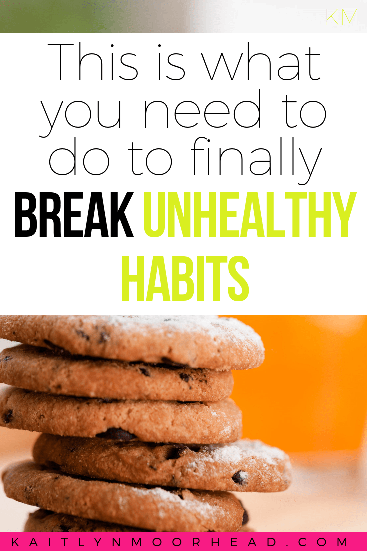Want to break bad habits, but can't seem to make them go away for good? This article will teach you how habits are formed, the 3 parts of every habit, + exactly how you can break bad habits for good! How to break bad habits, how to break unhealthy habits, how to break habits, how to quit bad habits, breaking bad habits psychology, how to change a bad habit #healthylifestyle #healthyeating #habits #fitnessmotivation #eatinghealthy